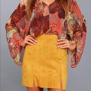 Lulus yellow mini skirt - 65% off, brand new